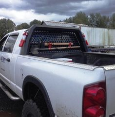 Santiam Truck Headache Rack with Ax, Fire Extinguisher, Shovel