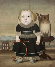 Title unknown (Girl with cat) by Spanish painter Juan Bejar (b.1946). via art odyssey