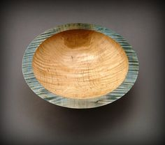 Curly Figured Maple Wood Bowl (BW326), handmade by New England woodturner Ray Asselin, at www.Bowlwood.com