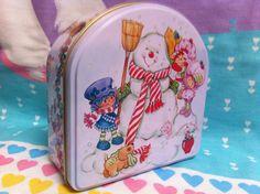 Strawberry Shortcake Vintage Tin box so cute by NiftyVintageGirl, $10.00