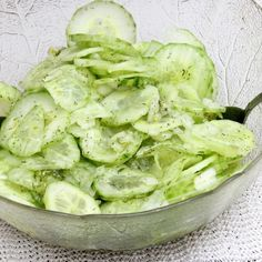 Simple And Savory Traditional German Cuke Salad - Page 2 of 2 - Recipe Patch Cold Vegetable Salads, Vegetable Medley, Vegetable Dishes, Easy Salads, Healthy Salad Recipes, Summer Salads, Recipe Patch, Marinated Cucumbers, Best Macaroni Salad