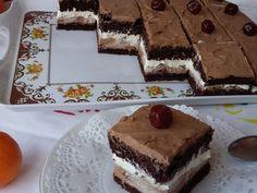 Prajitura Tuxedo Tuxedo Cake, Homemade Cake Recipes, Food Cakes, Dessert Recipes, Desserts, Tiramisu, Waffles, Goodies, Food And Drink