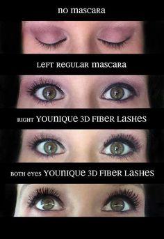 3D Fiber Lash Mascara, Before and After, No More Falsies, Water Resistant, 300% increase ... www.youniquelyteresa.com