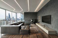 TruLine 1.6A Plaster-In LED System 5W 24VDC by Pure Lighting | Designer Credit: SK Design Group