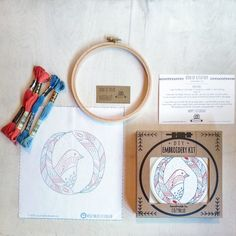 DIY embroidery kit gift kit holiday ornament kit sea by cozyblue