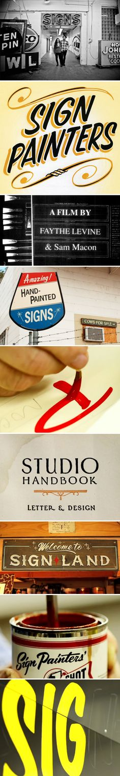 """""""sign painters"""" ~ stills from the documentary"""