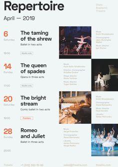 Event Calendar Template, Calendar Layout, Calendar Design, Conference Branding, Schedule Design, Flyer Design, Dates, Theater, Templates
