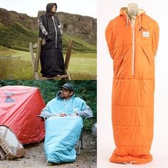 Love this- looks like I could wear it to Football and Soccer games and be the warmest fan!! Poler Napsack - Wearable Sleeping Bag