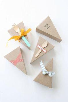 Uma ótima ideia These favors are a piece of cake. #Marthastewart