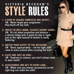 Victoria Beckham's style is impeccable! I'd love to raid her closet everyday!!!! Dress up! Yes please!