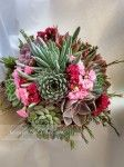 Valentine's Day Flower Arrangements, Succulent Bouquet, Belleza Natural, Bouquet Wedding, Floral Wreath, Valentines, Wreaths, Flowers, Plants