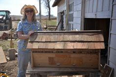 Monday, April 14, 2014 Building the top bar bee hive                             Bee Hives in the Plum Thicket      It kind of sounds like a Laura Ingalls Wilder book, 'L...