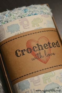 Crocheted with love free printable gift tag - Cobberson & Co.