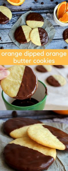Chocolate Dipped Orange Butter Cookie Recipe that melts in your mouth! #cookies #CookieRecipe #foodgift