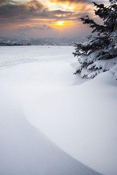 winter sunset by mprox on deviantart.com