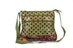 2015 Bewitched Floral Spot Messenger Bag in Sage £29.00 (inc VAT) Product code: 1047 Introducing the Floral Spot Oilcloth Messenger Bag from the Spring '15 collection at Bewitched Accessories. Our best selling messenger bag shapes, now in this fun and funky print.  Two zipped pockets on the outside, a phone pocket and one zipped pocket on the inside. With one long, adjustable shoulder strap. www.melburygallery.co.uk/shop/bags-and-purses/