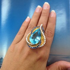 Beautiful and sexy #aquamarine #ring #and #pendant perfect for fine occasions plus #you #get 2 in 1!