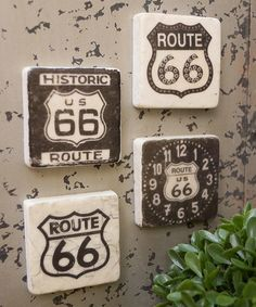 Another great find on #zulily! 'Route 66' Resin Magnet Set #zulilyfinds