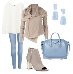 """""""Spring is coming!"""" by stefania-fornoni on Polyvore featuring moda, Kendra Scott, 7 For All Mankind, Uniqlo, Rick Owens, Vince e Givenchy"""