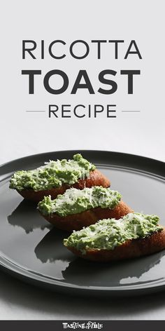 Watch and learn how to make a light and springy fresh pea ricotta spread to top grilled toast.