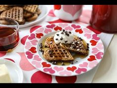 Valentine's Day Chocolate Chip Waffle Breakfast – Crate and Barrel Blog