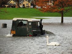 Swanning about in a Land Rover ...