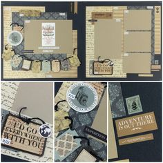 Carta Bella Old World Travel Best site ever for page layout kits! www.scrapbookstation.com