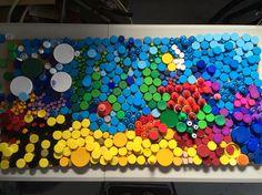 Have it a good crack - mosaic plastic lids