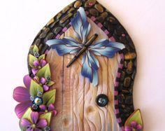 Blue Butterfly Fairy Door Pixie Portal , Miniature Fairy Door,Fairy Decor
