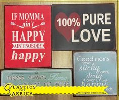 Looking for the perfect gift for a family member or friend? These fun and motivational plaques from #PlasticsforAfrica can be ideal. Visit your nearest branch today. #giftware