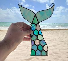 Stained Glass Mermaid Tail 340 #StainedGlassMermaid