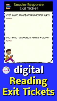 Assess reading comprehension with no prep digital Google Classroom distance learning Exit Tickets. Use these grades 3-5 reading response graphic organizers with any type of text or genre. Reader Response using Google Classroom is an easy, versatile answer to infusing technology into your classroom. 14 Fiction & 14 Nonfiction Response Sheets. #DistanceLearningTpT #TpT #GoogleSlides #GoogleClassroom #readingstrategies #TeacherFeatures #ReadingComprehension #technologyintheclassroom #ReaderResponse