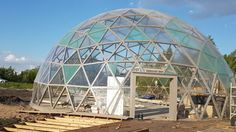 Building geodesic dome walk through