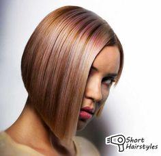 Short Angled Bob Hairstyles 2014