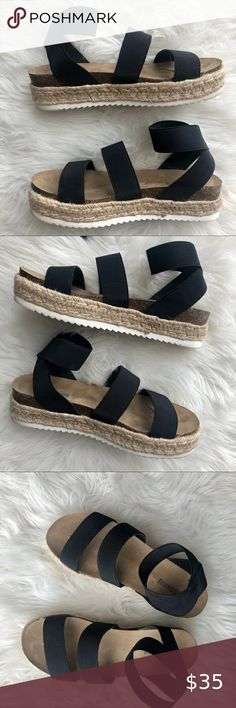 Espadrilles Hi!  Comfortable espadrilles  True to size  Elastic straps for perfect fit  Feel free to make any respectable offer  Happy poshing Shoes Espadrilles