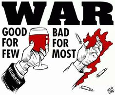 George W., Dick Cheney and their friends made a fortune when we went to war...we paid for their profits with the blood and broken bodies and spirits of our veterans. Veterans who, once they were no longer needed or able to fight, THEY turned their backs on.