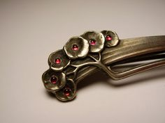 Jugendstil German Silver Brooch
