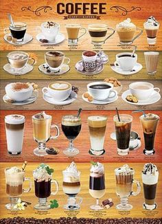 Coffee Mixology Collage Education Poster - 61 x 91 cm Menu Café, Café Chocolate, Coffee Facts, Coffee Quotes, Coffee Beans, Coffee Coffee, Coffee Enema, Coffee Maker, Coffee Tables