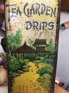 Antique Tea Garden Drips Syrup Tin Seattle & Portland  | eBay
