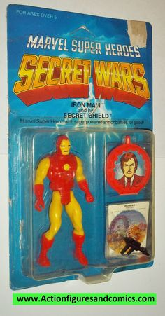 Mattel Toys: marvel super heroes SECRET WARS vintage action figures 1984 IRON MAN Still factory sealed in the original package Condition: Package is in overall good condition showing only a sticker te