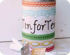 Tin for Ten - A 10th Anniversary Gift - Giggles Galore