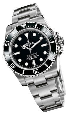 The Rolex Submariner. And this year at Basel World, Rolex introduced a brand new one - and we went hands-on, and in detail with the new Reference Rolex Submariner No Date, Submariner Watch, Rolex Gmt, Rolex Oyster Perpetual, Luxury Watches, Rolex Watches, Cool Watches, Watches For Men, Sport Watches