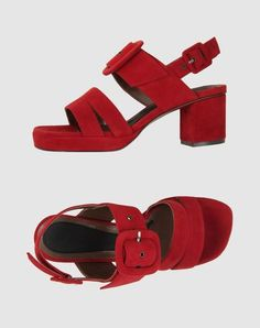 Marni platform sandals in red from S/S 2012...just the perfect amount of clunk.