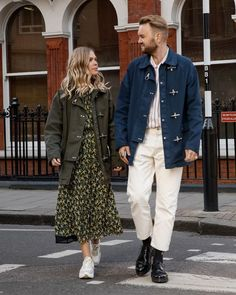"A walk through London or a journey to a foreign destination: Jessie Bush and her husband Sam sharing their moments in a Fay 4 Ganci Summer Edition Jacket. Find out more about ""In Love With 4 Ganci"" at Family Photo Album, Love Dating, Look At The Stars, Romantic Dates, Show Photos, Beach Photos, We The People, Jessie, Style Inspiration"