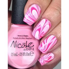 50 Lovely Pink and White Nail Art Designs ❤ liked on Polyvore featuring beauty products, nail care, nail treatments and nails