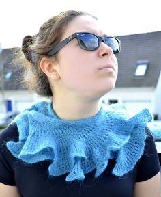 Hand knitted Turquoise  Green  Blue Scarf by contesdemaison, $30.00