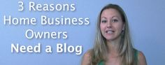 Why Blog? - 3 Big Reasons to Blog if You Have a Home Business. Tanya Why Blog if I'm in a Home Business? I broke it down to 3 BIG Reasons to Blog and in this Video Post you'll see why I LOVE Blogging as my main Lead Source...