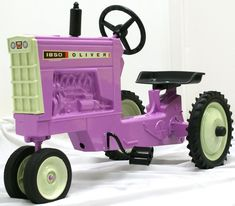 Purple toy tractor