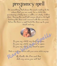 Fertility Pregnancy Baby Love Spell Wicca Book of Shadows Pagan Occult Ritual | Everything Else, Metaphysical, Wicca | eBay!