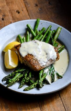 Red Snapper with Lemon Cream Sauce - Food is Love Made Edible - Fish Recipes Fish Recipes, Seafood Recipes, New Recipes, Whole Food Recipes, Dinner Recipes, Cooking Recipes, Healthy Recipes, Healthy Foods, Fish Dishes